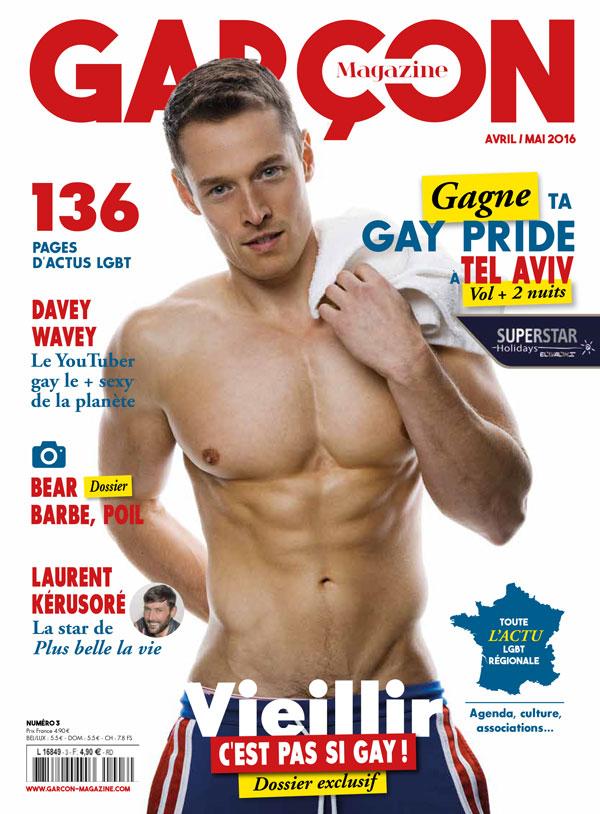 Garçon Magazine N°3, parution du 30 Mars 2016