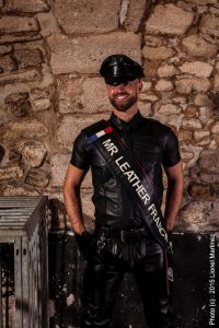 Sylvain Mr Leather FRANCE 2015 candidat IML 2016
