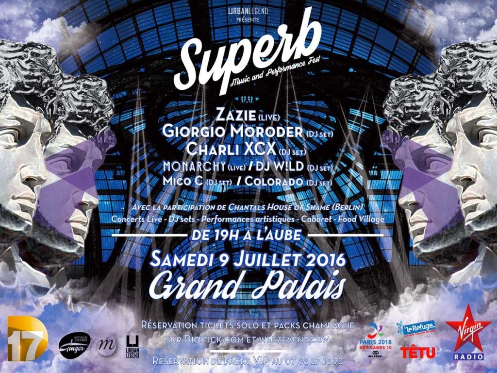 Garçon Magazine vous propose la SUPERB, la plus grosse soirée gay d'Europe!