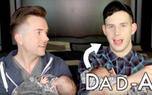 MINUTE CUTE – Deux papas partagent leur bonheur !