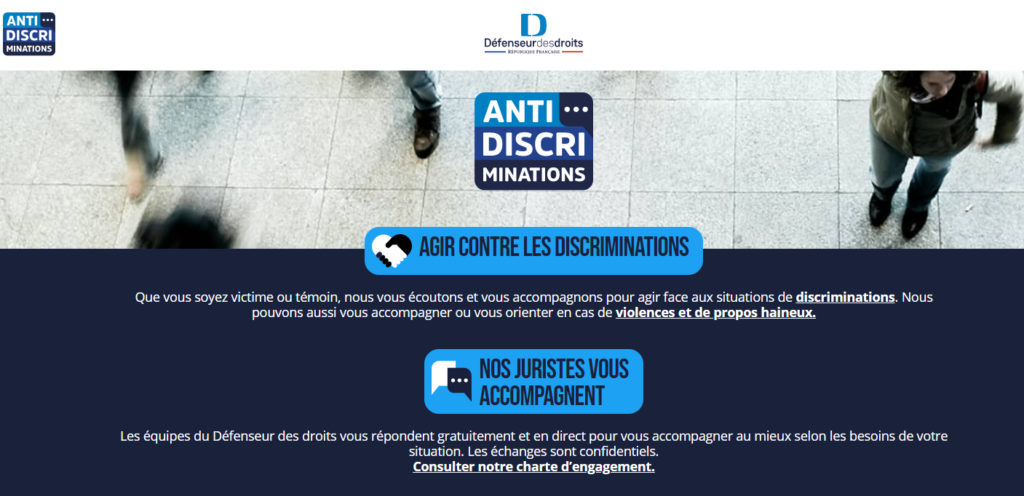 plateforme anti-discriminations